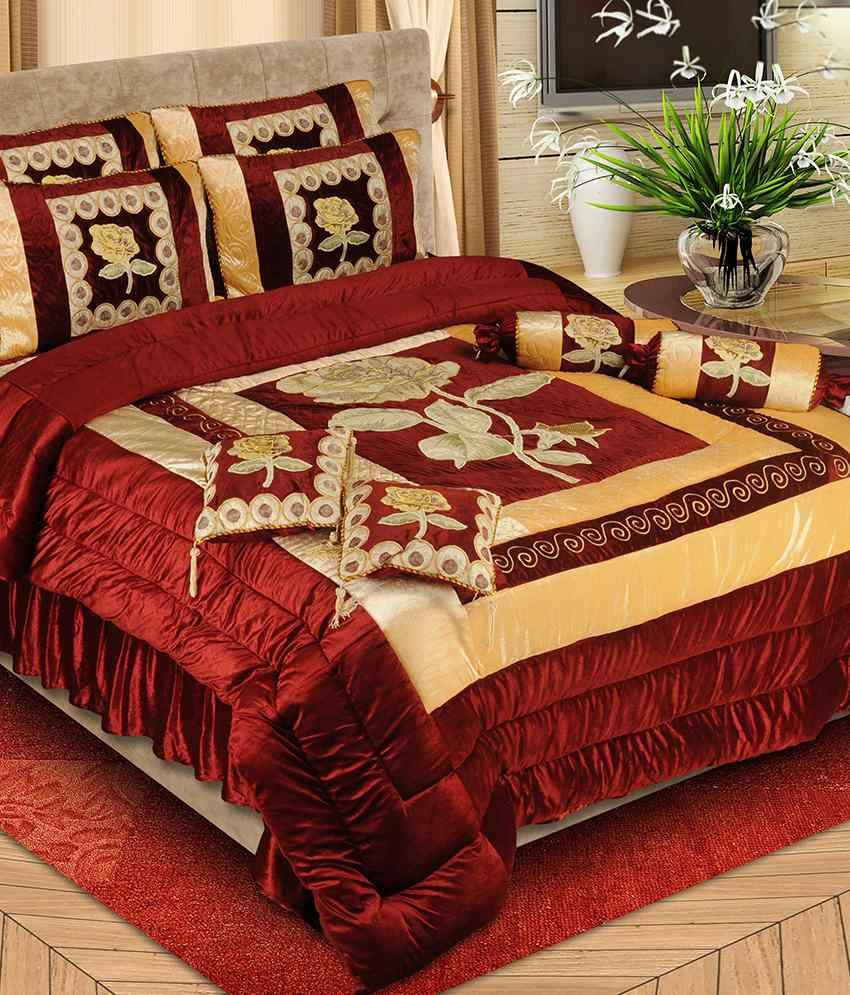 Lanextr Diamond Micro 8pcs Luxury Designer Wedding Bedding